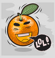 lol lots of laughs with laughing orange funny vector image
