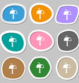Mailbox icon sign Multicolored paper stickers vector image