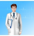 Male Doctor Poster vector image
