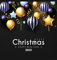 merry christmas and happy new 2021 year shining vector image vector image