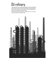 Oil and gas refinery isolated on white background vector image vector image