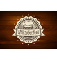 oktoberfest Retro styled label of pub or craft vector image vector image