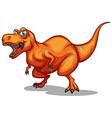 orange dinosaur with sharp teeth vector image vector image