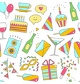 party celebration background pattern vector image