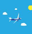 passenger plane flying isolated on white vector image vector image