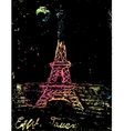 picture of the Eiffel Tower vector image vector image