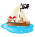 pirates sailing at sea vector image