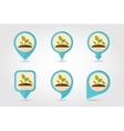 Plant sprout flat mapping pin icon vector image vector image