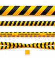Police line tape and danger on a light background vector image