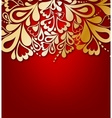 Red Floral Background vector image vector image
