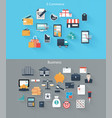 set of flat icons for web and mobile devices vector image vector image