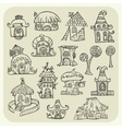 Set of sketch cartoon houses vector image