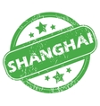 Shanghai green stamp vector image vector image