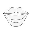 smile mouth laugh icon image vector image vector image