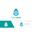 water and real estate logo combination vector image