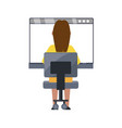 woman on internet vector image vector image