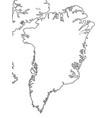 world map greenland arctic archipelago vector image vector image