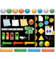 set of website buttons vector image