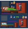 girl sleep in the bed Woman room Bedtime vector image