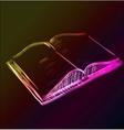 Open book glowing sketch icon vector image