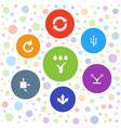 7 arrows icons vector image vector image
