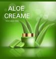 aloe cream concept background realistic style vector image vector image