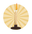 antique candle light vector image vector image