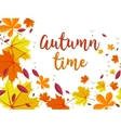 autumn background frame for text decorated vector image vector image