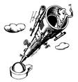 big telescope vector image vector image