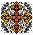 black ottoman serial patterns twenty seven vector image