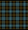 blue and brown tartan plaid scottish pattern vector image vector image