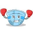 boxing baby diaper character cartoon vector image vector image