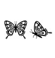 butterfly set stencil butterfly moth wings and vector image vector image