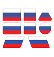 buttons with flag of Russia vector image