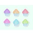 cartoon cupcakes vector image