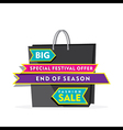 creative big clearance sale banner using shopping vector image vector image