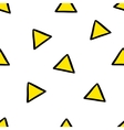 Cute seamless pattern with yellow triangles vector image vector image