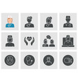 doctor and nurse icons set black vector image vector image