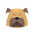 dog sad emoji pet sorrowful emotions bulldog dull vector image vector image