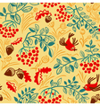 Fall season seamless pattern vector image vector image