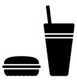 fast food symbol vector image vector image