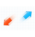 Fast moving arrows vector image vector image