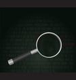 finding hacker concept vector image