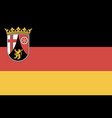 flag rhineland-palatinate vector image vector image