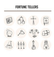 fortune tellers isolated hand drawn doodles vector image