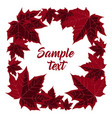 frame with maple leaves vector image vector image