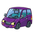 funny small car with eyes vector image