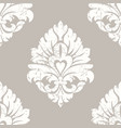 grunge damask seamless pattern element vector image
