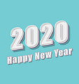 happy new year text 2020 retro design vector image vector image