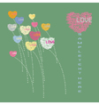 Heart flower form from love text vector image vector image